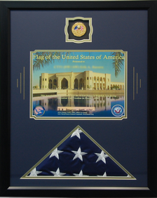 Iraqi Freedom Flag Shadow Box Display
