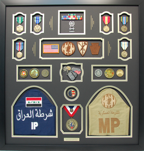 Iraqi Freedom Shadow Box Display