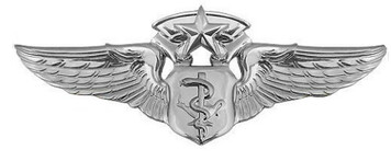 Air Force Badge: Flight Nurse: Chief - regulation size