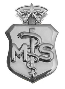 Air Force Badge: Medical Service: Chief