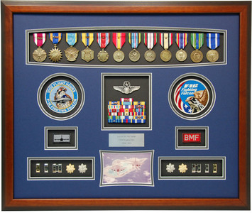 "21"" x 26"" F-16 Fighter Pilot Shadow Box Display"