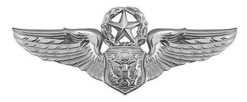 Air Force Badge: Officer Aircrew: Master – regulation size