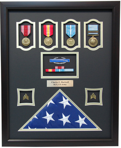 16 Quot X 20 Quot Us Army Korean War Shadow Box W Flag Display