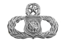 Air Force Badge: Weapons Controller: Master - regulation size
