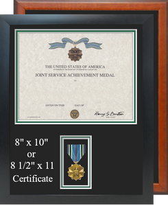 Joint Service Achievement Certificate Frame