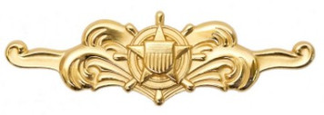 Coast Guard Badge: Cutterman Officer - regulation size