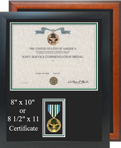 Joint Service Commendation Certificate Frame