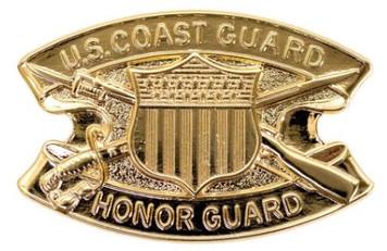 Coast Guard Badge: Honor Guard - regulation size