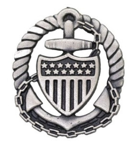 Coast Guard Badge: Officer in Charge Afloat - regulation size