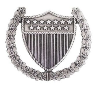Coast Guard Badge: Officer in Charge Ashore - regulation size