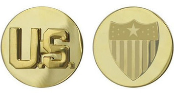 Army Enlisted Branch of Service Collar Device: U.S. and Adjutant General
