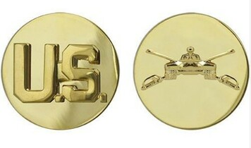 Army Enlisted Branch of Service Collar Device: U.S. and Armor