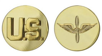 Army Enlisted Branch of Service Collar Device: U.S. and Aviation