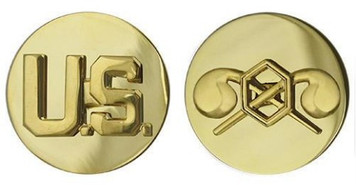 Army Enlisted Branch of Service Collar Device: U.S. and Chemical