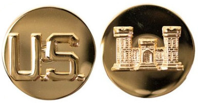 Army Enlisted Branch of Service Collar Device: U.S. and Engineer