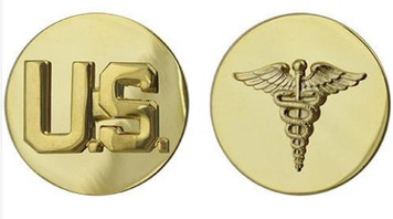 Army Enlisted Branch of Service Collar Device: U.S. and Medical