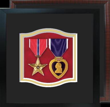 """8"""" x 8"""" Two Medal Shadow Box"""