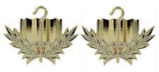 Army Officer Branch of Service Collar Device: Cavalry - 22k gold plated