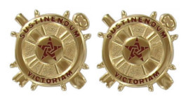 Army Officer Branch of Service Collar Device: Logistics - 22k gold plated
