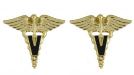Army Officer Branch of Service Collar Device: Veterinarian