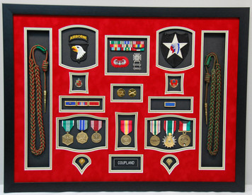 US Army Field Artillery Shadow Box Display