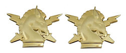 Army Officer Branch of Service Collar Device: Psychological Operations - 22k gold plated