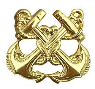 Navy Collar Device: Boatswain – gold- each