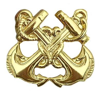 Navy Collar Device: Boatswain – gold- each