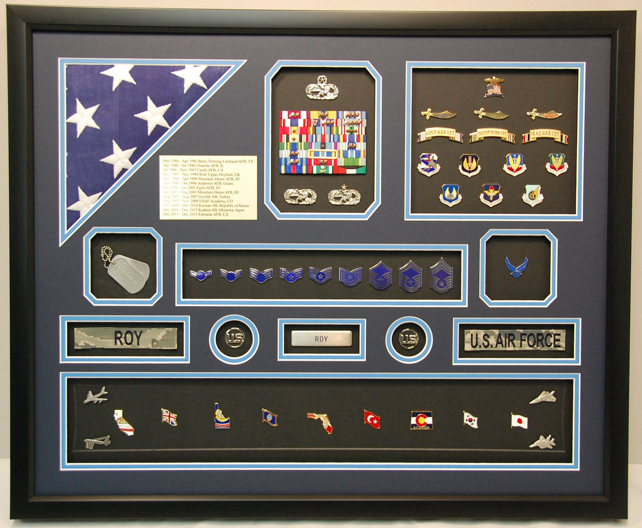 Us Air Force Iraq Shadow Box Military Memories And More