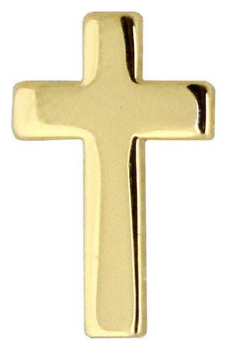 Navy Collar Device: Chaplain Christian - gold- each
