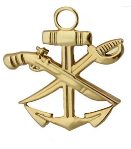 Navy Collar Device: Special Warfare Combat Craft Crew SWCC - gold- each
