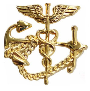 Navy Collar Device:  U.S. Public Health Service PHS Collar Device: Anchor with Caduceus