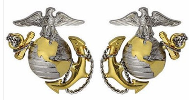 Marine Corps Dress Collar Device: Officer