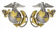 Marine Corps Dress Collar Device: Officer