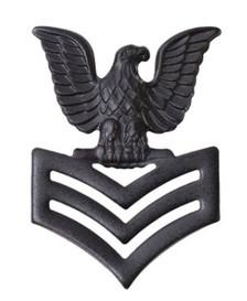 Marine Corps Collar Device: E6 Petty Officer - black metal