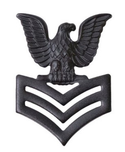 Marine Corps Collar Device: E6 Petty Officer - black metal