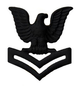 Marine Corps Collar Device: E5 Petty Officer - black metal- each