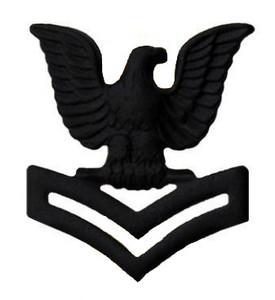 Marine Corps Collar Device: E5 Petty Officer - black metal- each