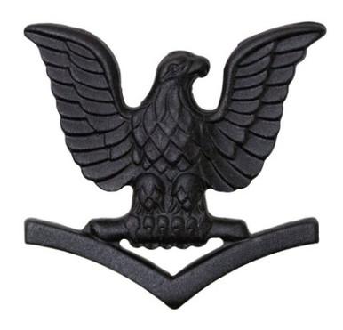 Marine Corps Collar Device: E4 Petty Officer - black metal