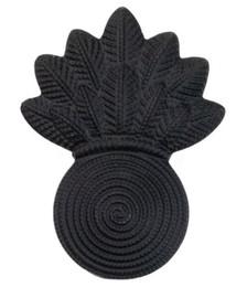 Marine Corps Collar Device: Gunners - black metal
