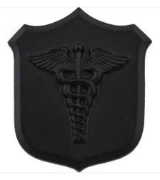 Marine Corps Collar Device:  Caduceus - black metal
