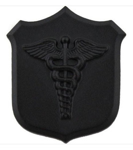 Marine Corps Collar Device:  Caduceus - black metal