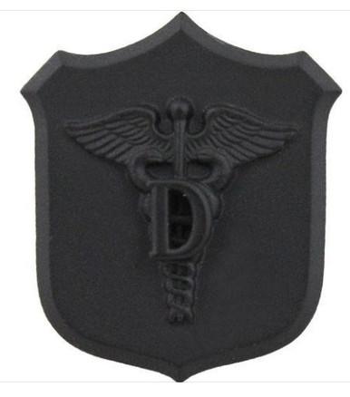 Marine Corps Collar Device: Dental - black metal