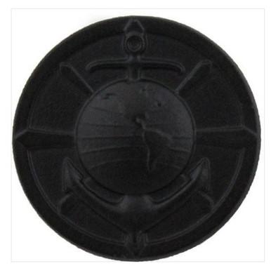 Marine Corps Collar Device: Religious Program Specialist - black metal