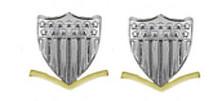 Coast Guard Metal Collar Device: E4 Petty Officer- per pair