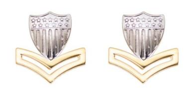 Coast Guard Metal Collar Device: E5 Petty Officer- per pair