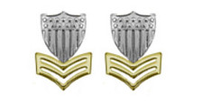 Coast Guard Metal Collar Device: E6 Petty Officer- per pair