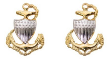 Coast Guard Metal Collar Device: E7 Chief Petty Officer- per pair