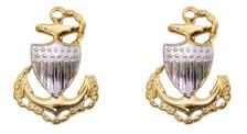 Coast Guard Metal Collar Device: E7 Chief Petty Officer- per pair