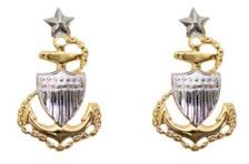Coast Guard Metal Collar Device: E8 Chief Petty Officer: Senior- per pair